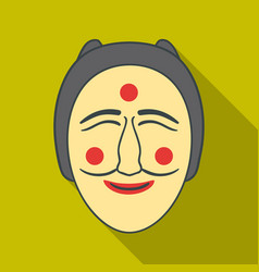 hahoe mask icon in flate style isolated on white vector image