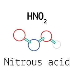 HNO2 nitrous acid molecule vector