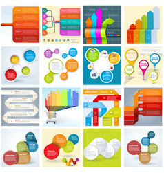 Infographic template set vector