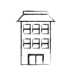Isolated apartments building vector