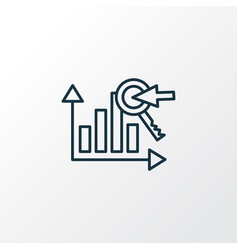 Keyword ranking icon line symbol premium quality vector