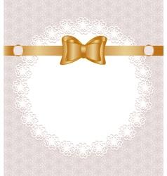 Lace napkin vector