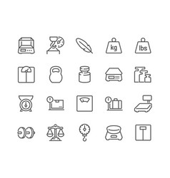 line weight icons icons vector image