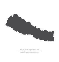map nepal isolated black on vector image