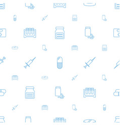medication icons pattern seamless white background vector image
