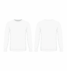 Mens white sweater vector
