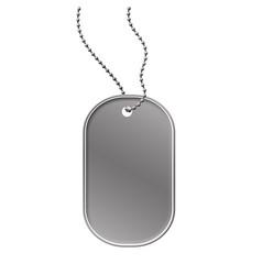 Military dog tag vector
