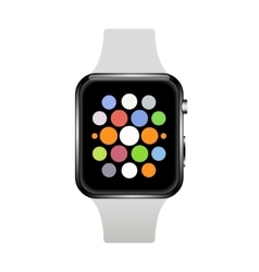 modern realistic smart watch on white vector image