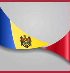 Moldovan wavy flag vector