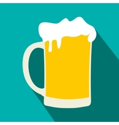 Mug of beer flat icon vector image