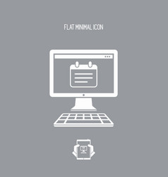 Notepad application - flat minimal icon vector