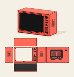 Old tv map vector