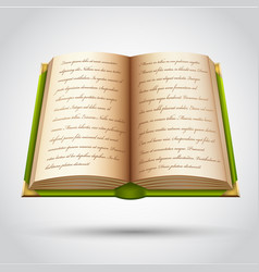 Open old book vector
