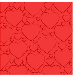 pattern of light red hearts vector image
