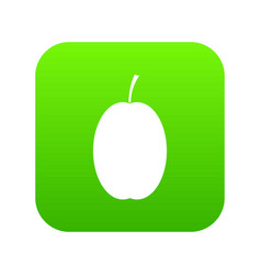 plum icon digital green vector image