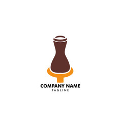 Pottery logo template design vector