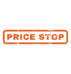 Price Stop Rubber Stamp vector image