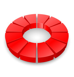 Red circular diagram isolated on white background vector