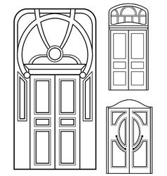retro doors set vector image