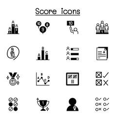 Score icons set graphic design vector