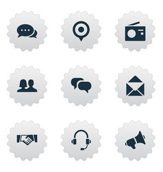 set of simple network icons vector image