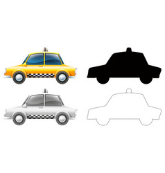 set taxi car vector image
