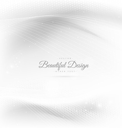 shiny beautiful waves in white background vector image