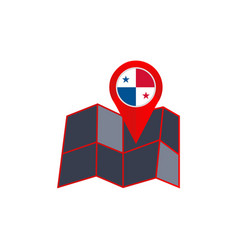 Simple panama map pins are isolated with country vector