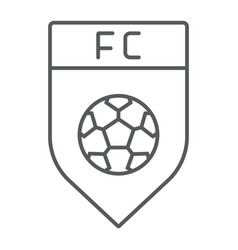Soccer club thin line icon game and badge vector