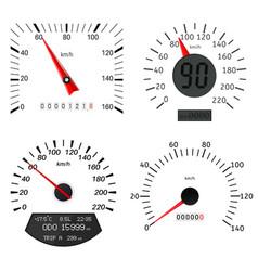 speedometer scales vector image