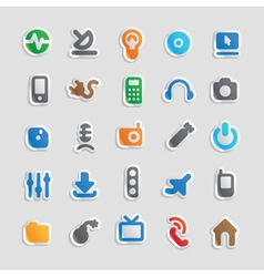 Sticker icons for technology vector