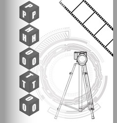 The camera on a white background and film vector