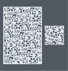The template pattern for decorative panel2 vector image