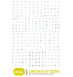 Thin line abstract logo mega collection vector