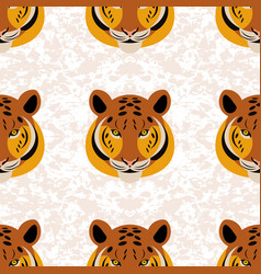 tiger head grunge texture white background vector image