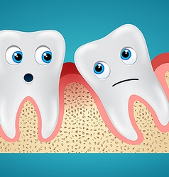 Two tooth and gum hurt vector