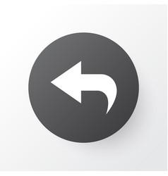 Undo icon symbol premium quality isolated return vector
