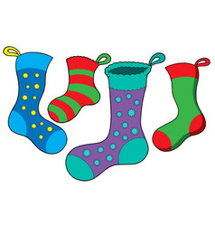 Various christmas socks vector
