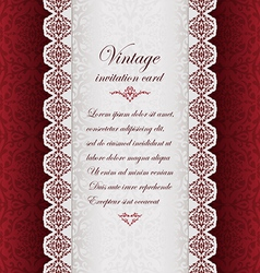 Vintage ethnic background with lace vector image