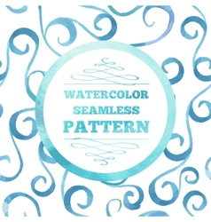 Watecrolor template vector image