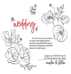 wedding greeting card invitation modern holiday vector image