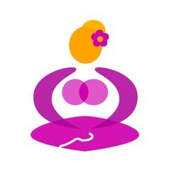 Wellness yoga pose vector image
