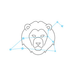 zodiac signs leo line icon simple element vector image