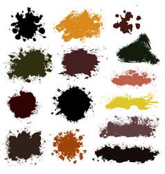 brush strokes set 015 vector image