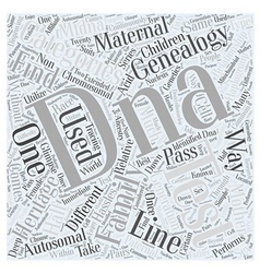 family find genealogy heritage Word Cloud Concept vector image vector image