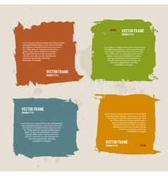 Grunge Frame Collection vector image vector image