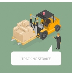Tracking service concept vector image