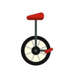 Unicycle icon flat style vector image vector image