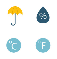 climate forecast weather symbols vector image