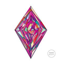 hand drawn abstract rhombus vector image